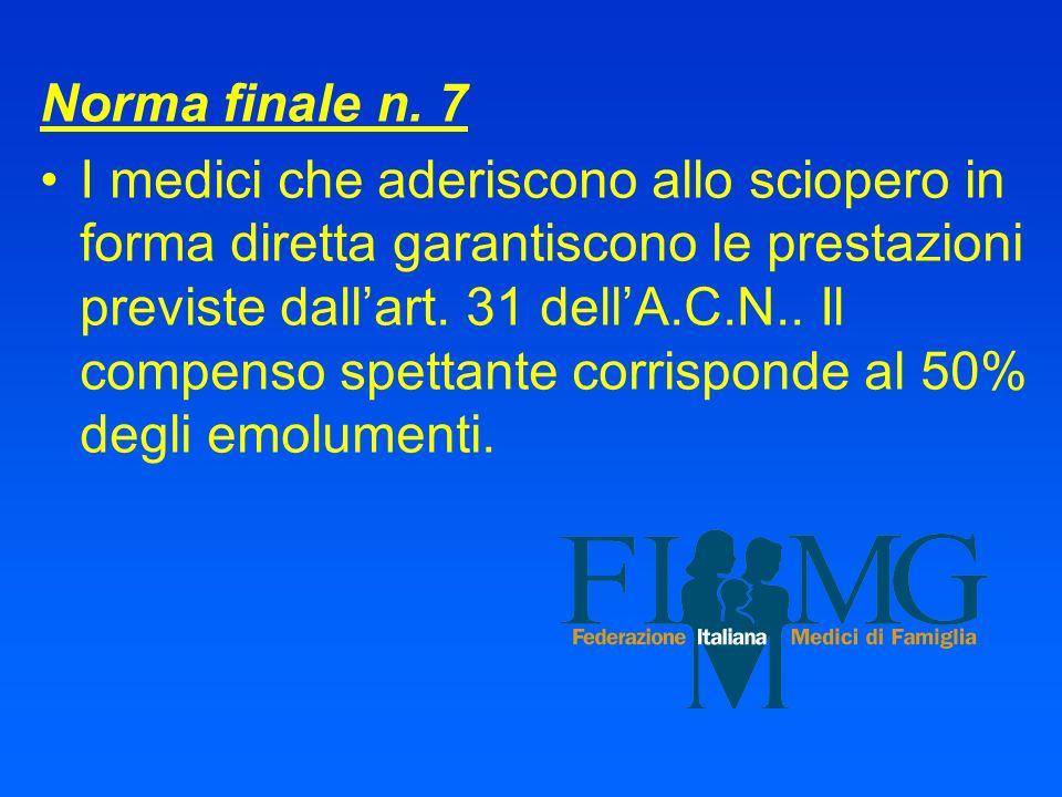Norma finale n. 7