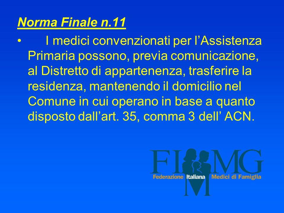 Norma Finale n.11