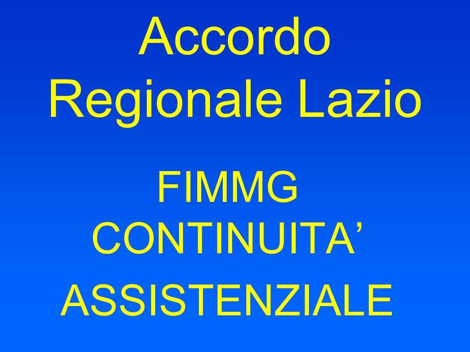 Accordo Regionale Lazio