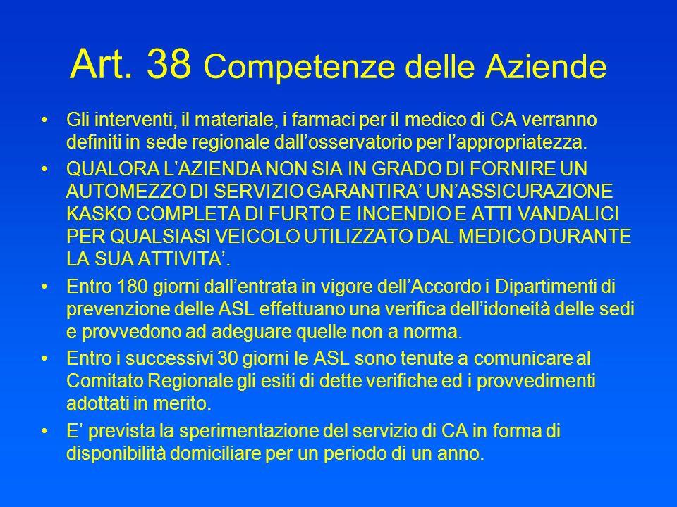 Art. 38 Competenze delle Aziende