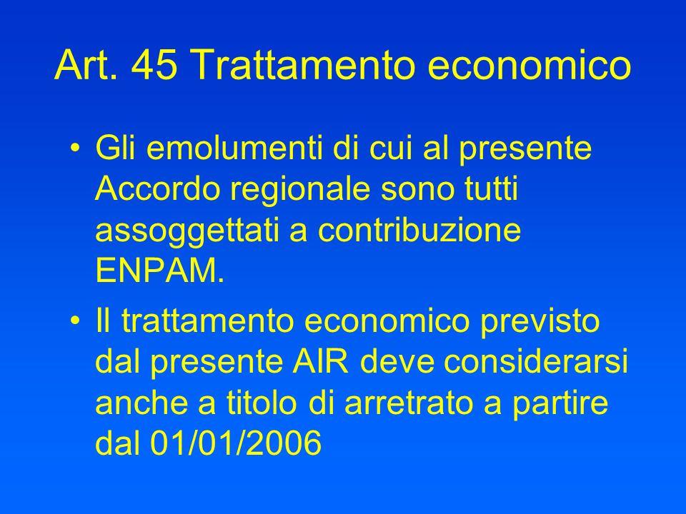 Art. 45 Trattamento economico