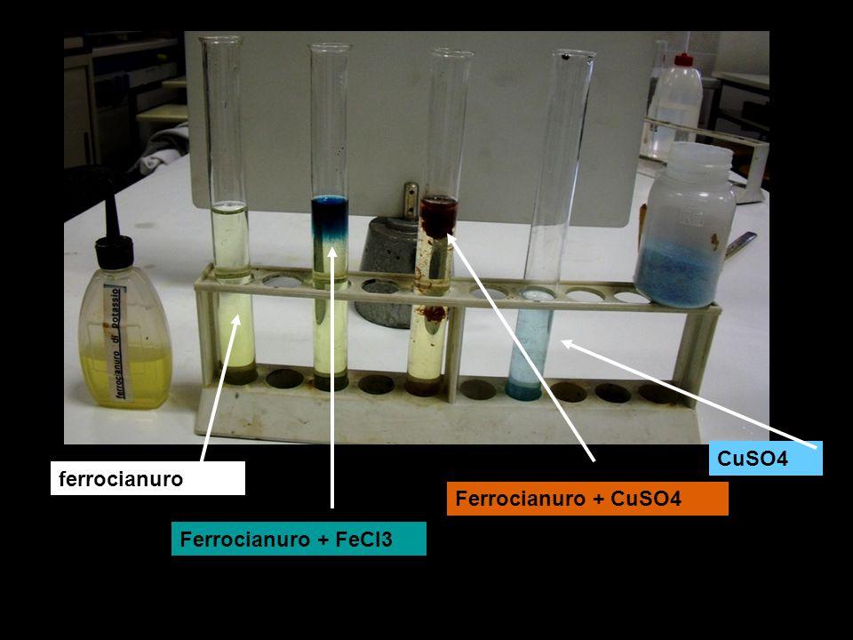 CuSO4 ferrocianuro Ferrocianuro + CuSO4 Ferrocianuro + FeCl3
