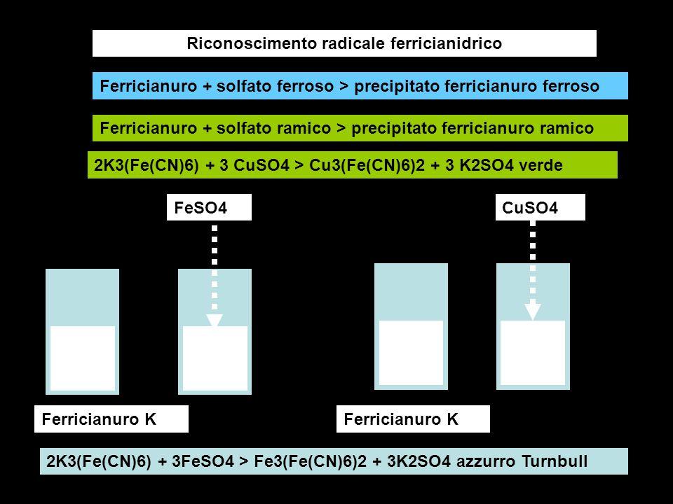 Riconoscimento radicale ferricianidrico