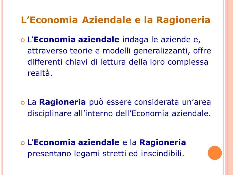 L'Economia Aziendale e la Ragioneria