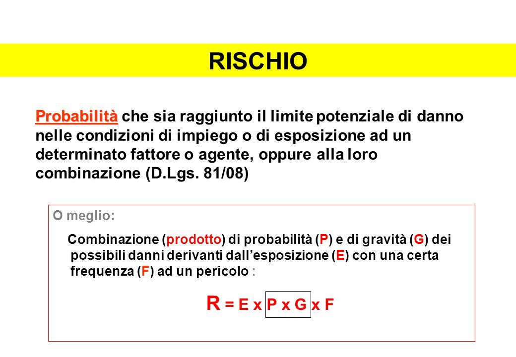 RISCHIO