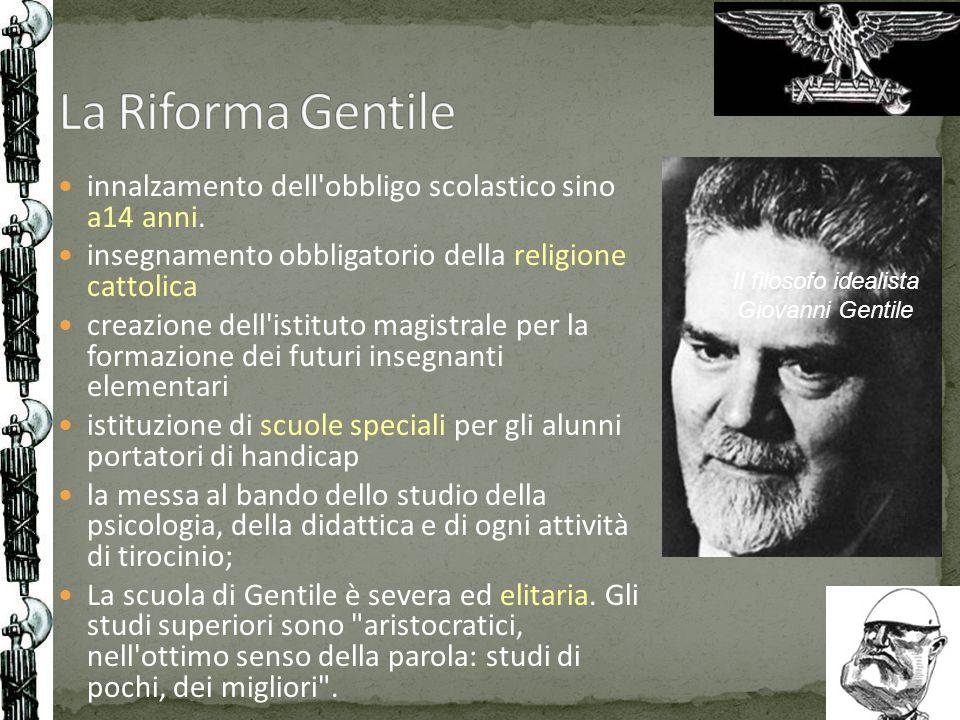 Il filosofo idealista Giovanni Gentile
