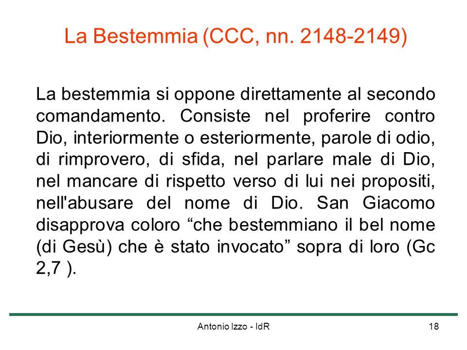 La Bestemmia (CCC, nn. 2148-2149)