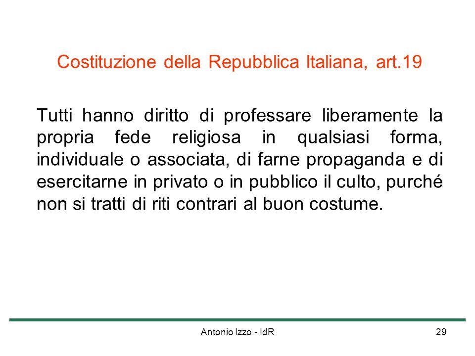 Costituzione della Repubblica Italiana, art.19