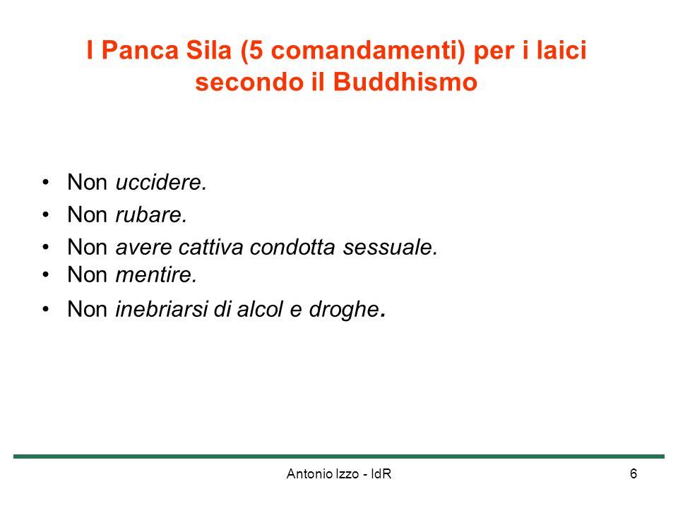 I Panca Sila (5 comandamenti) per i laici secondo il Buddhismo