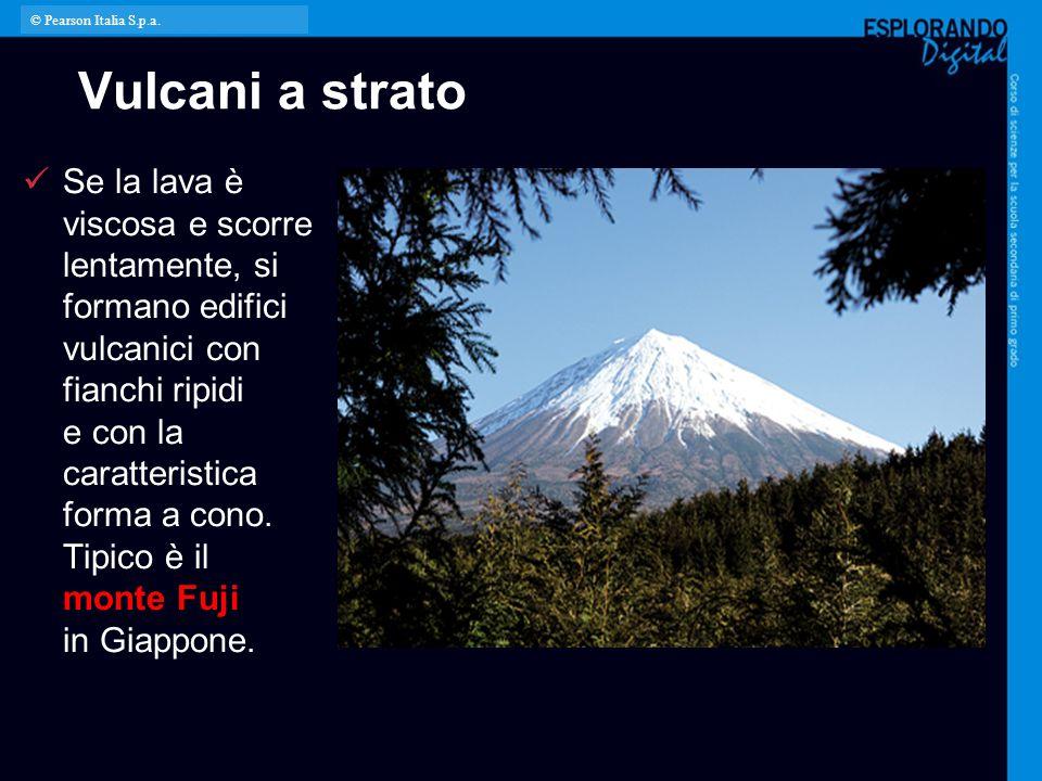 © Pearson Italia S.p.a. Vulcani a strato.