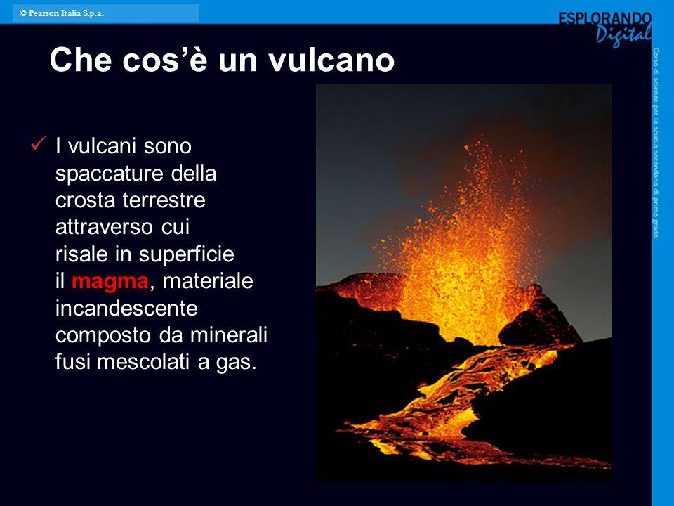 © Pearson Italia S.p.a. Che cos'è un vulcano.