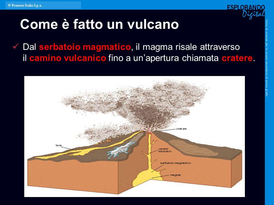 © Pearson Italia S.p.a. Come è fatto un vulcano.