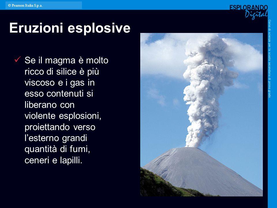 © Pearson Italia S.p.a. Eruzioni esplosive.