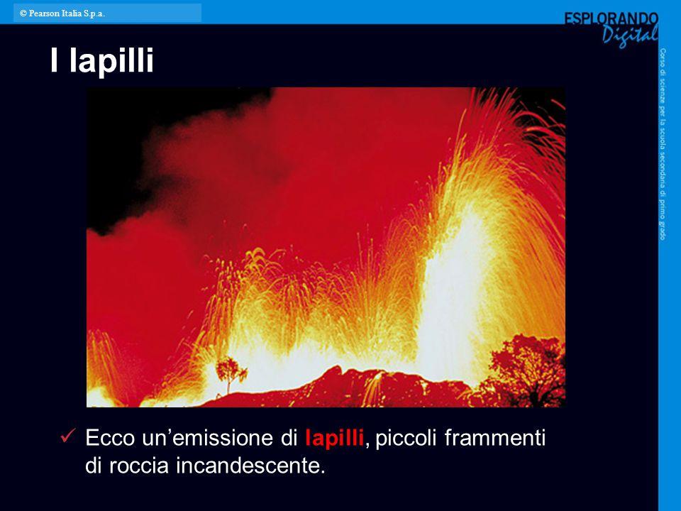 © Pearson Italia S.p.a. I lapilli. Per l'insegnante: L'immagine mostra un'eruzione esplosiva del vulcano Stromboli.
