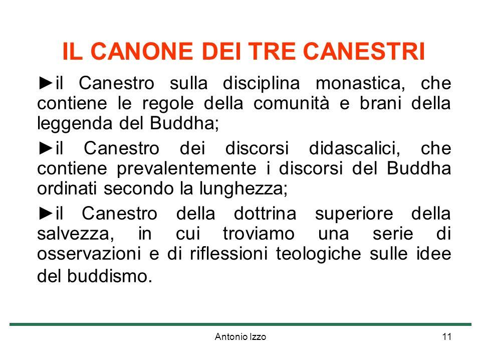 IL CANONE DEI TRE CANESTRI