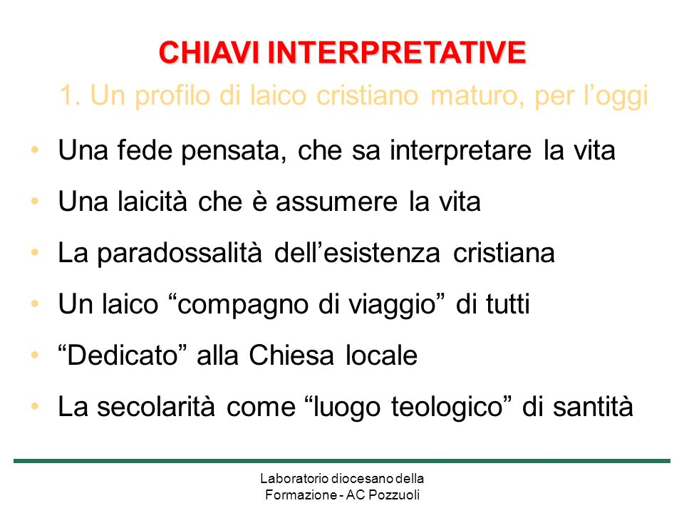 CHIAVI INTERPRETATIVE