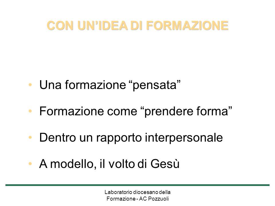 CON UN'IDEA DI FORMAZIONE