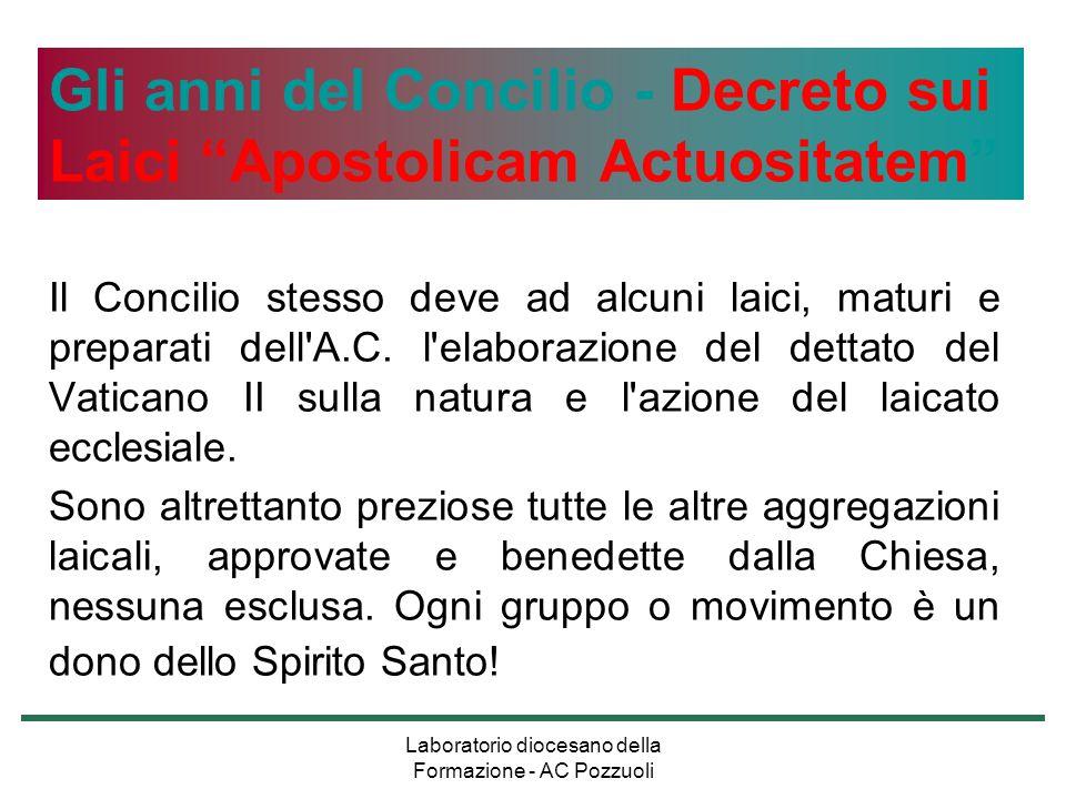 Laboratorio diocesano della Formazione - AC Pozzuoli