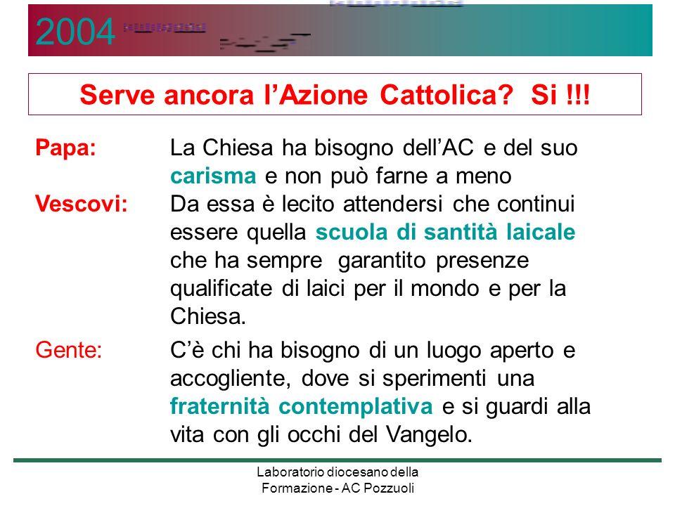 Serve ancora l'Azione Cattolica Si !!!
