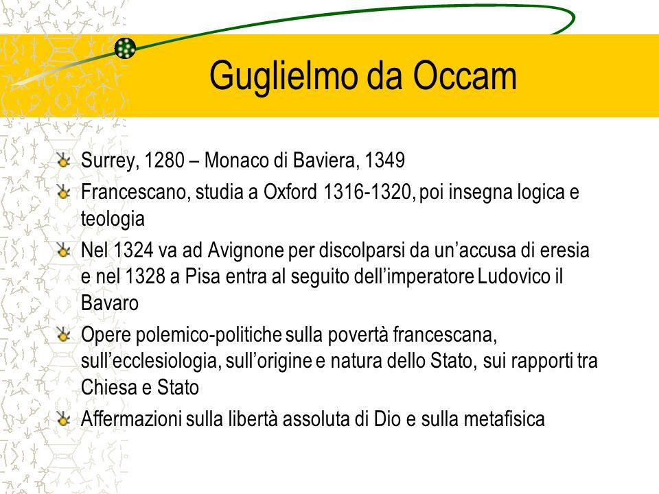 Guglielmo da Occam Surrey, 1280 – Monaco di Baviera, 1349
