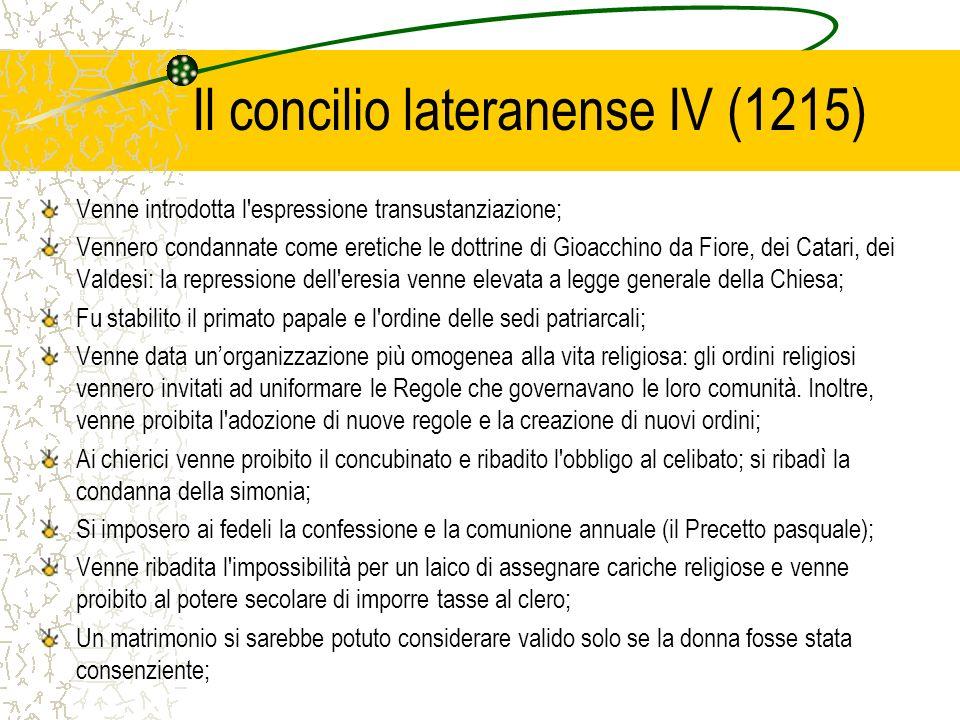 Il concilio lateranense IV (1215)