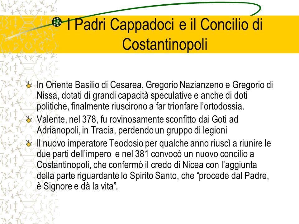 I Padri Cappadoci e il Concilio di Costantinopoli
