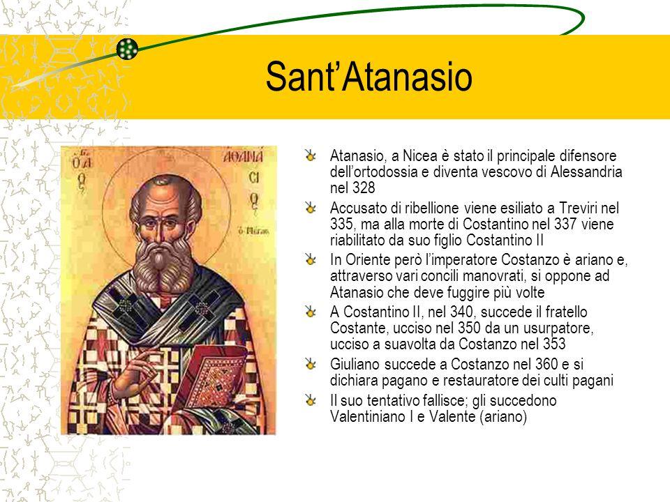 Sant'AtanasioAtanasio, a Nicea è stato il principale difensore dell'ortodossia e diventa vescovo di Alessandria nel 328.