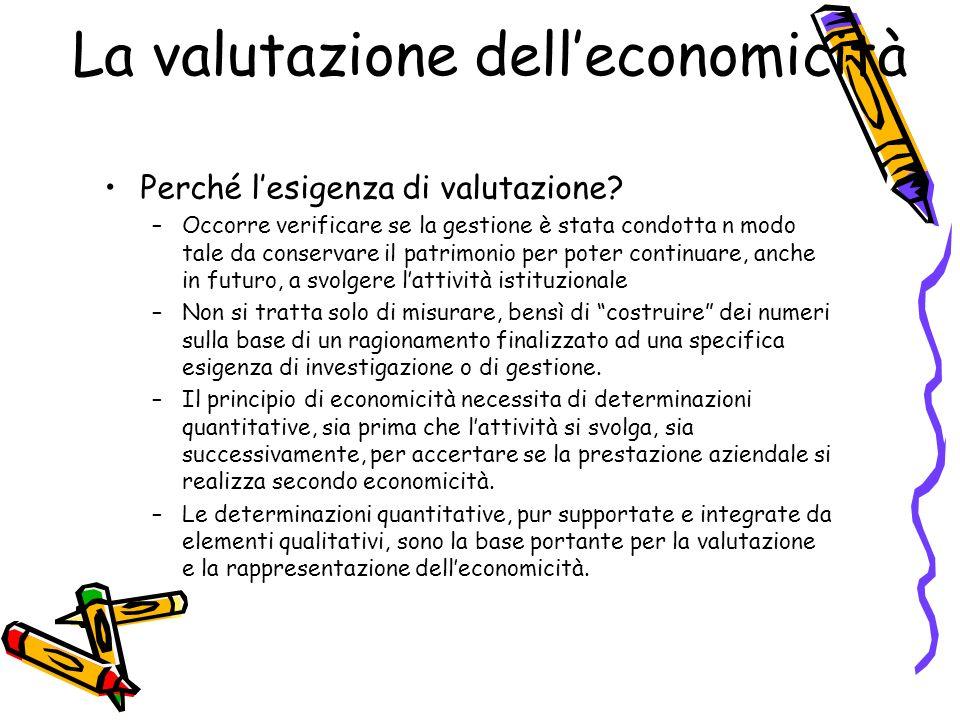 La valutazione dell'economicità