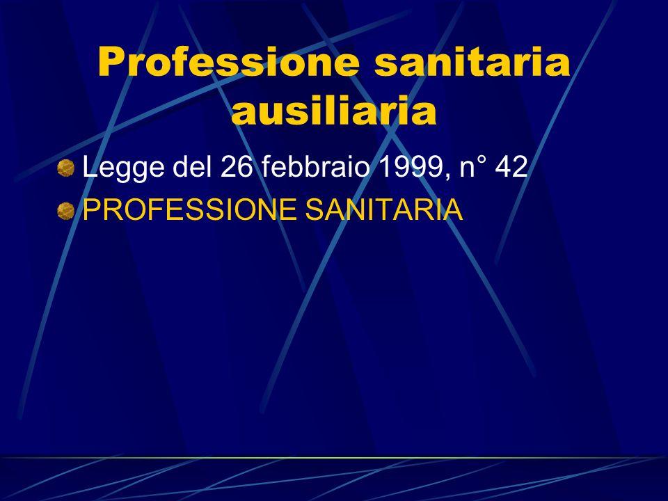 Professione sanitaria ausiliaria