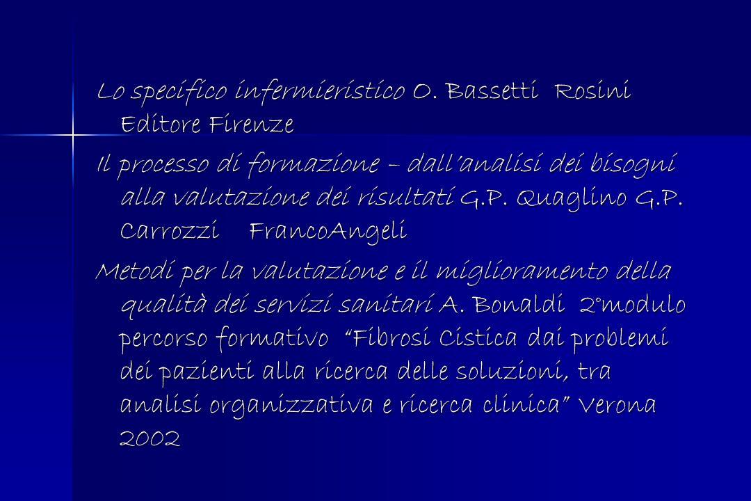Lo specifico infermieristico O. Bassetti Rosini Editore Firenze