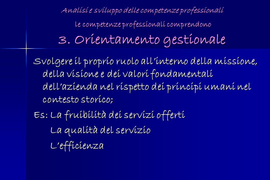 Es: La fruibilità dei servizi offerti La qualità del servizio