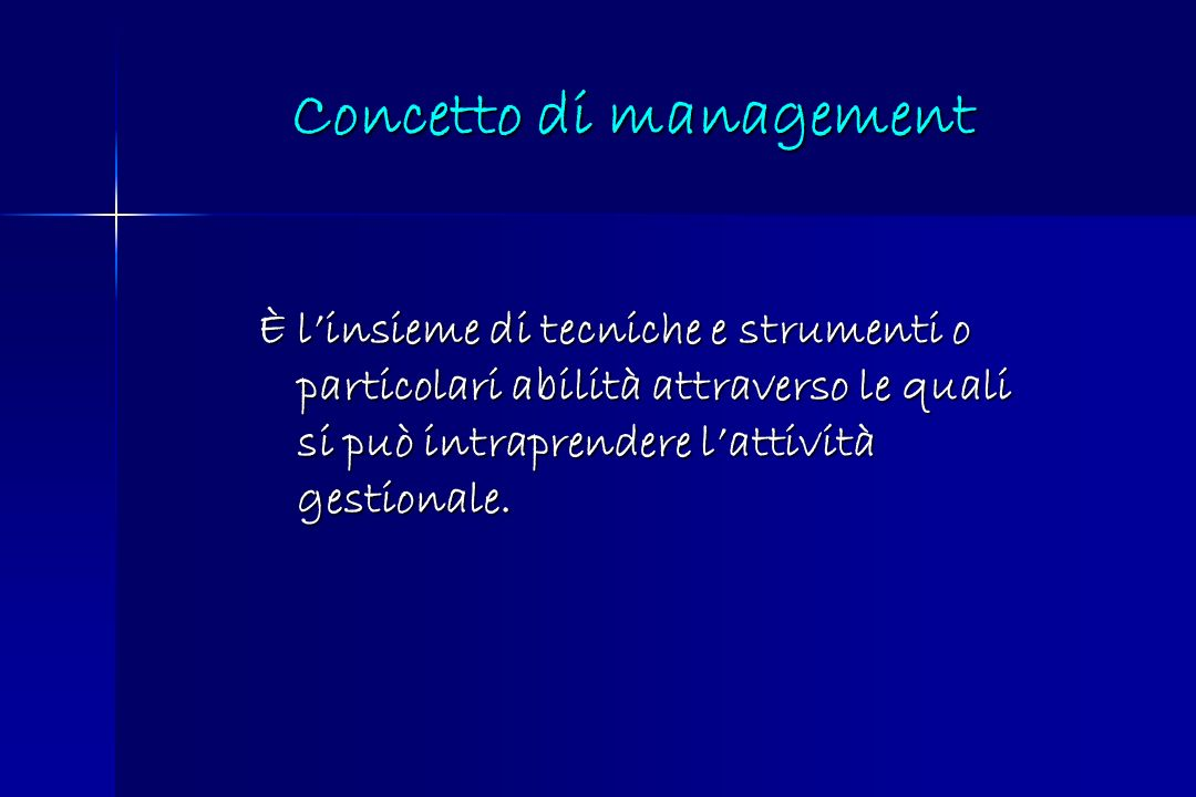Concetto di management