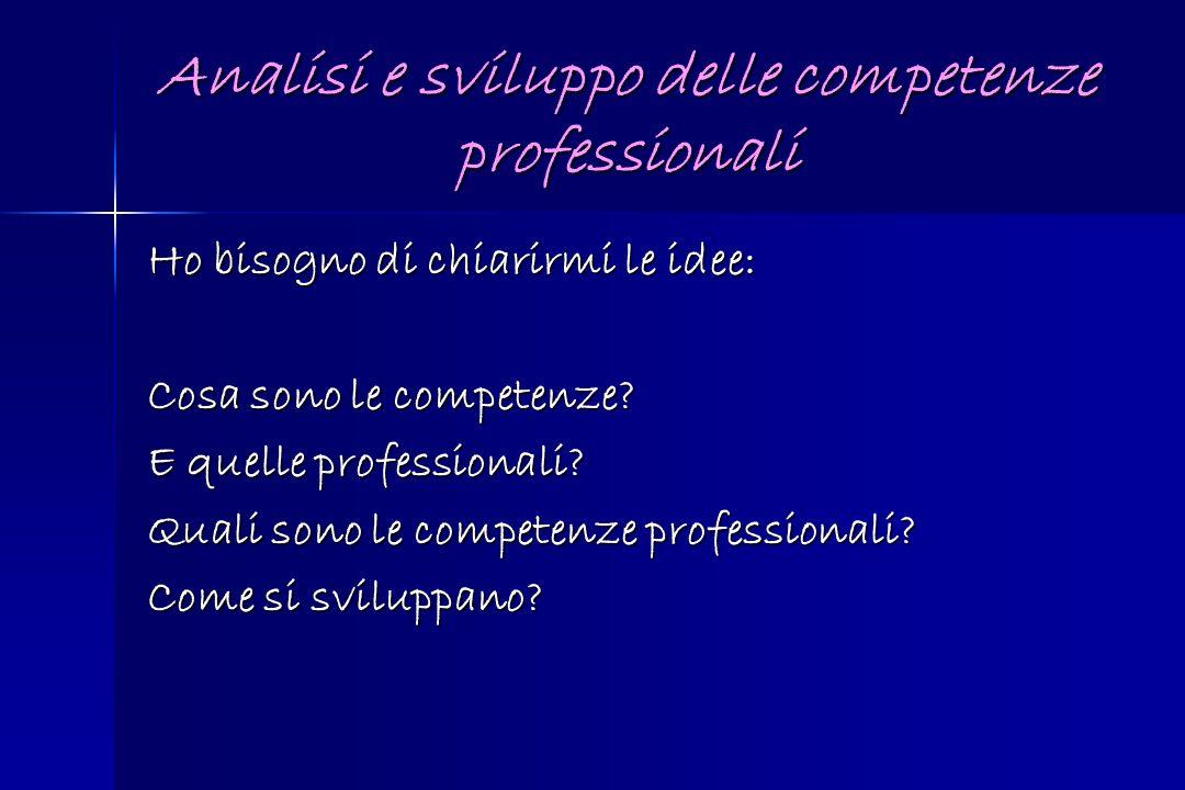 Analisi e sviluppo delle competenze professionali