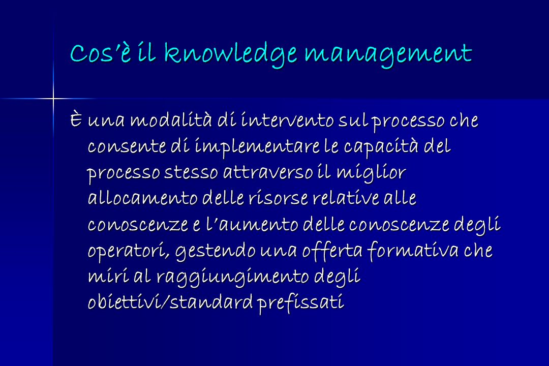Cos'è il knowledge management