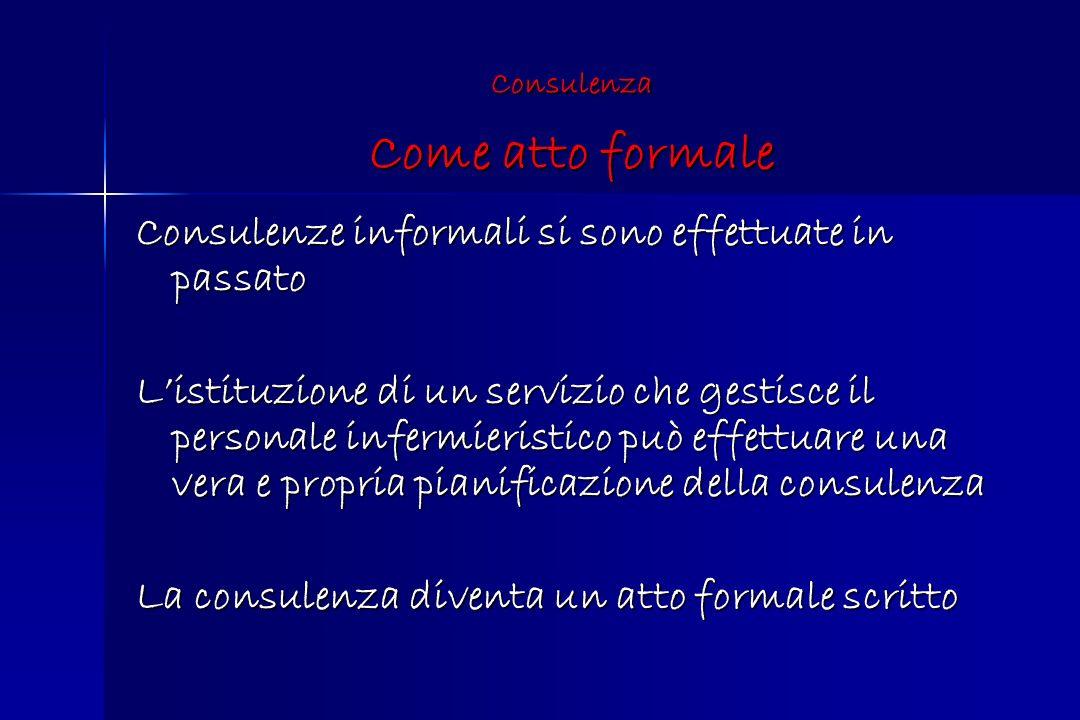 Consulenza Come atto formale