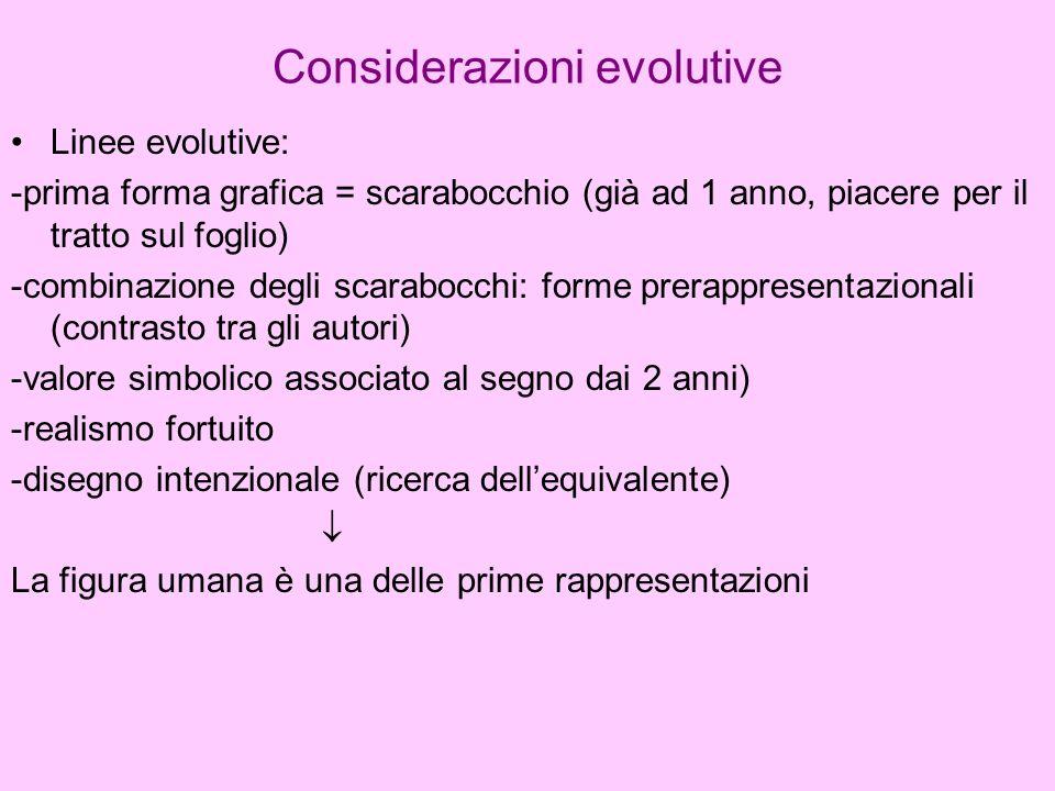 Considerazioni evolutive