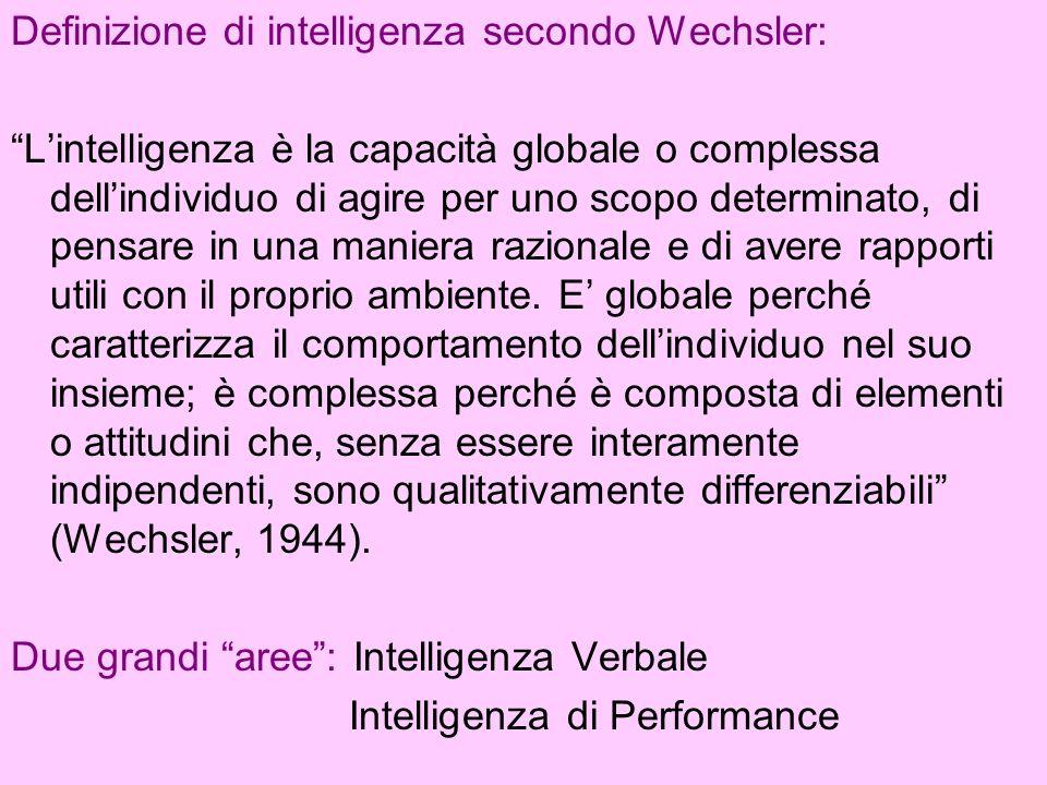 Definizione di intelligenza secondo Wechsler: