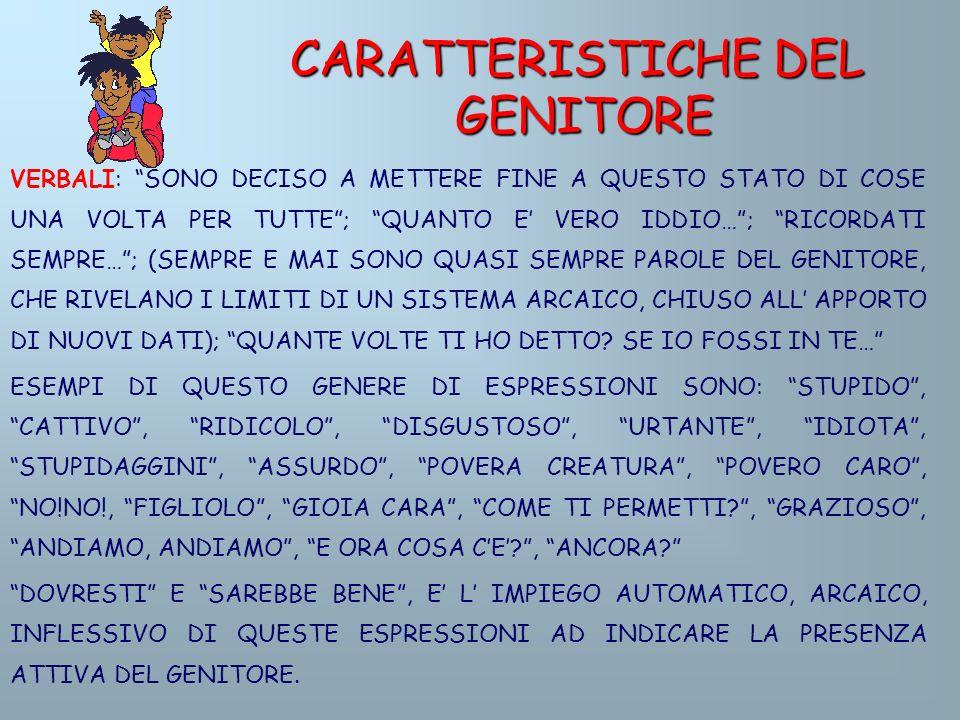 CARATTERISTICHE DEL GENITORE