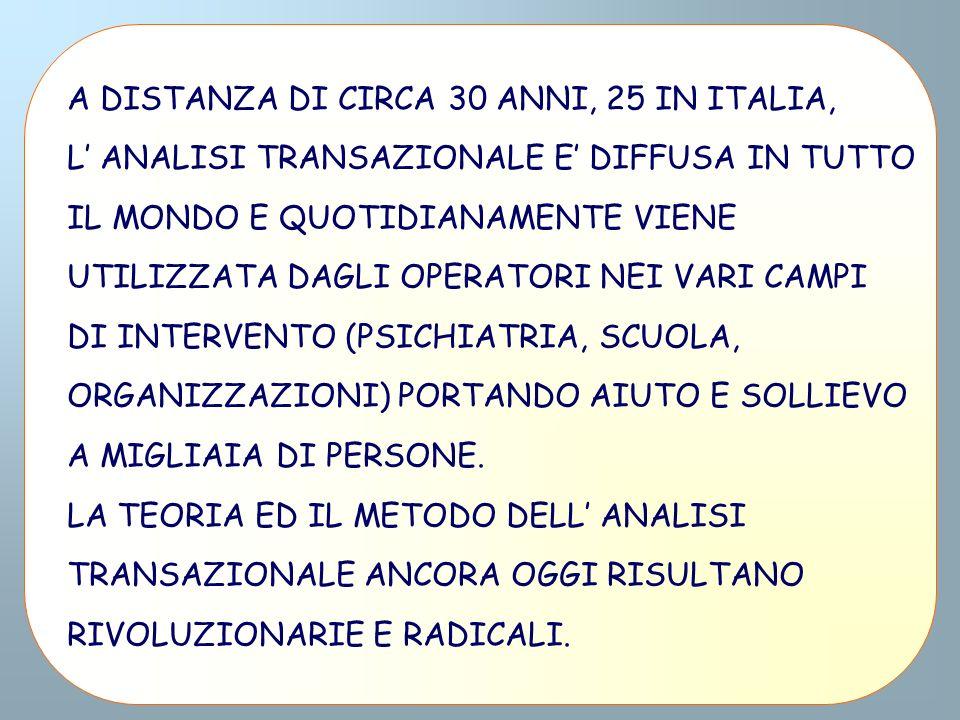 A DISTANZA DI CIRCA 30 ANNI, 25 IN ITALIA,