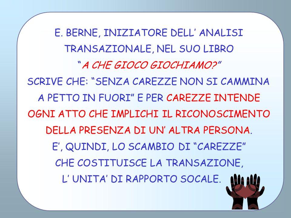 E. BERNE, INIZIATORE DELL' ANALISI TRANSAZIONALE, NEL SUO LIBRO