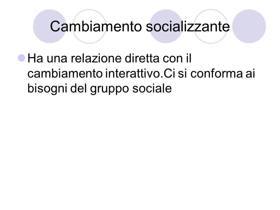 Cambiamento socializzante