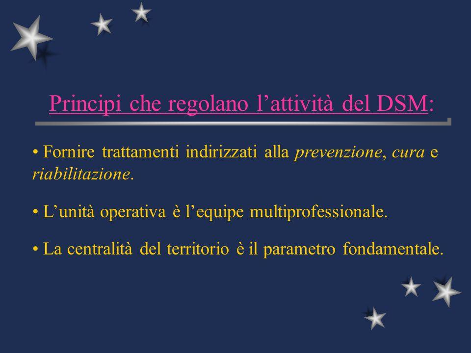 Principi che regolano l'attività del DSM: