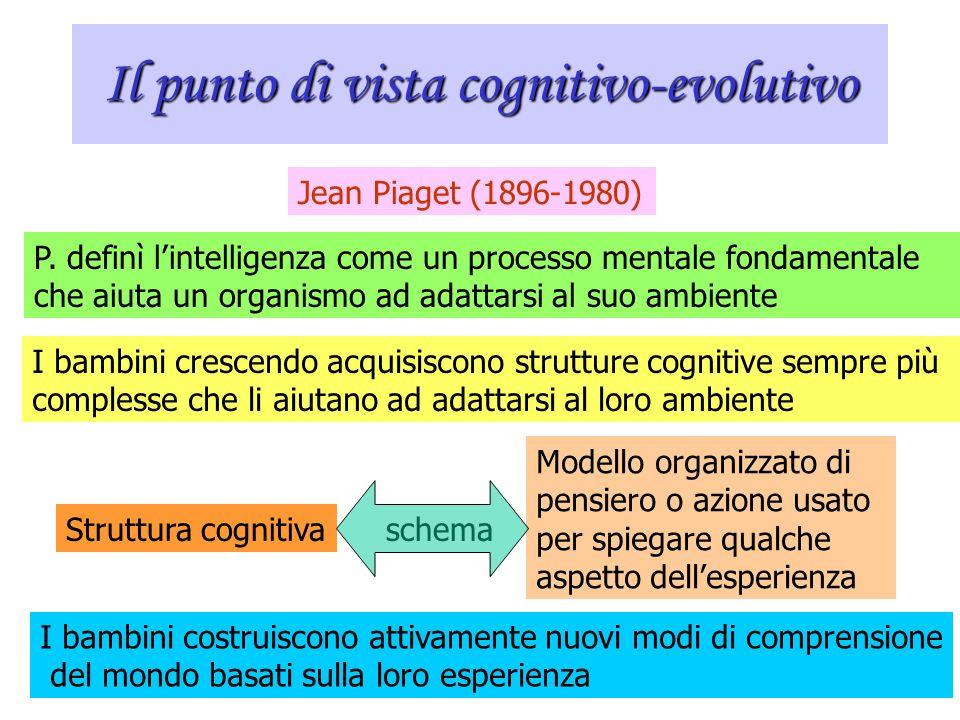 Il punto di vista cognitivo-evolutivo