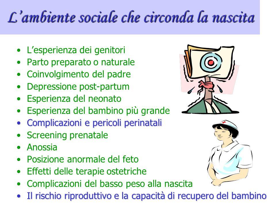 L'ambiente sociale che circonda la nascita