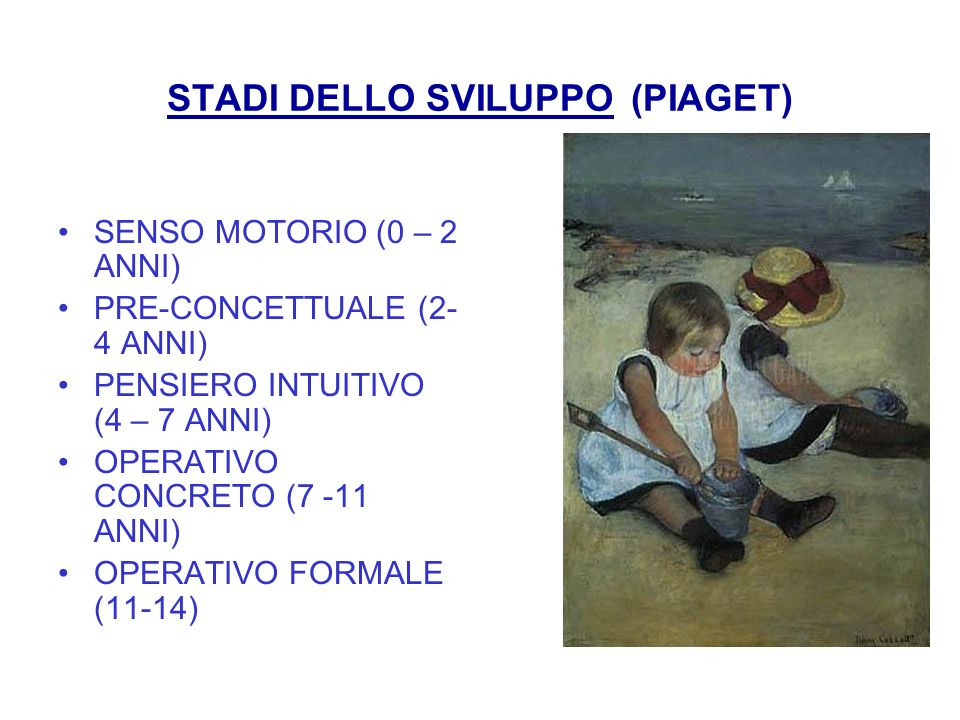 STADI DELLO SVILUPPO (PIAGET)