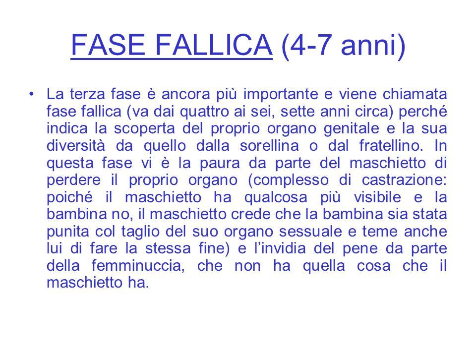 FASE FALLICA (4-7 anni)