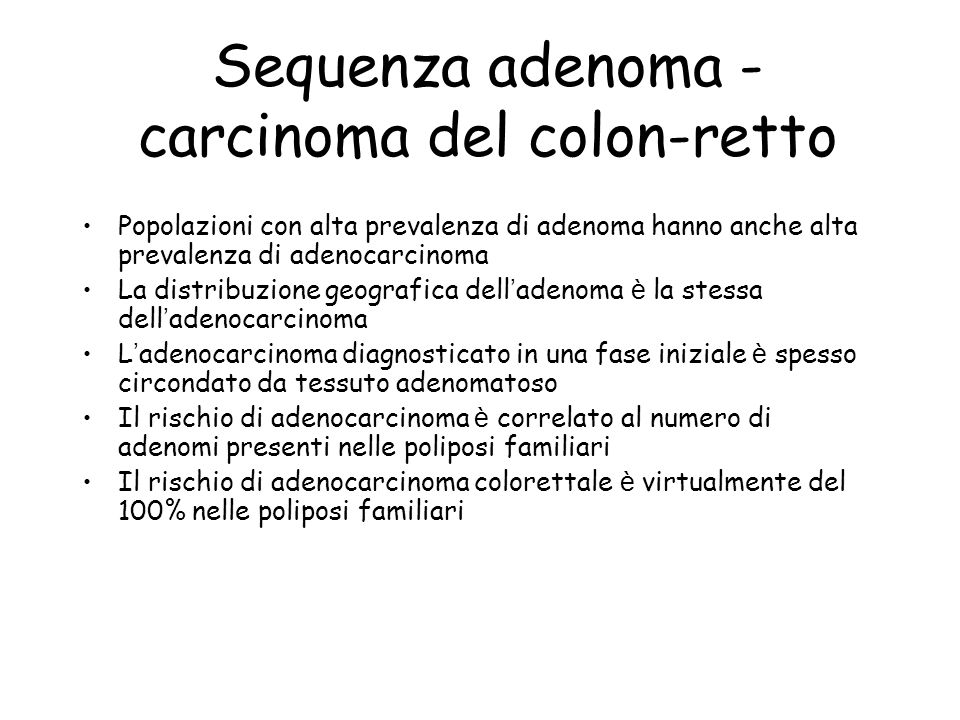 Sequenza adenoma - carcinoma del colon-retto
