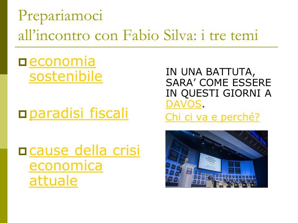 Prepariamoci all'incontro con Fabio Silva: i tre temi