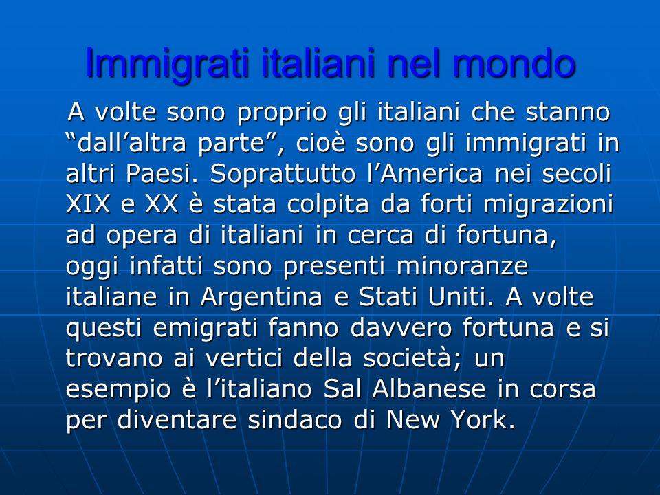 Immigrati italiani nel mondo