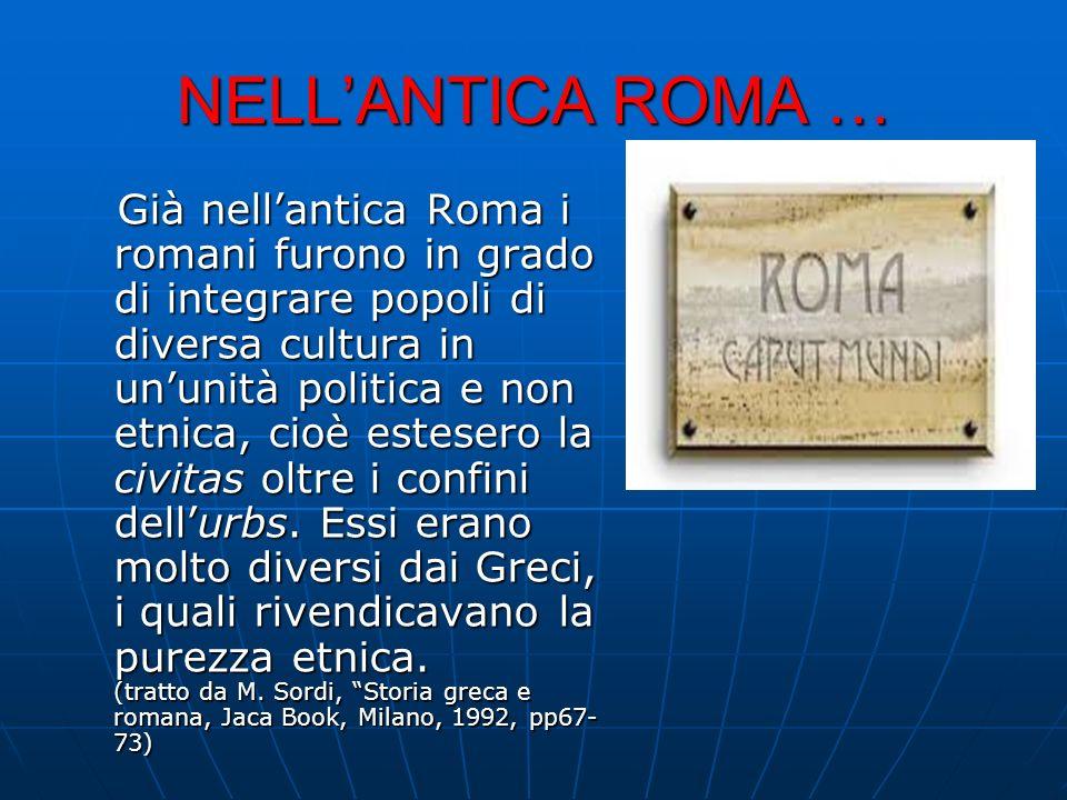 NELL'ANTICA ROMA …